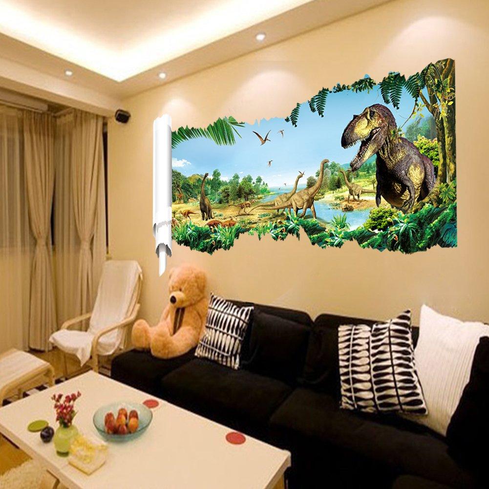 Zooarts® Jurassic World Dinosaur Scroll Wall Decals Sticker For Kidsu0027 Room  Decor     Amazon.com