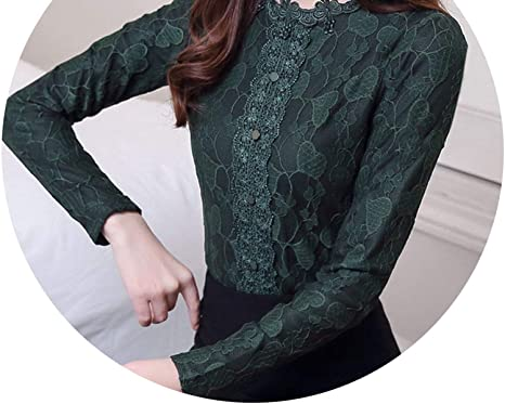 6961726710a66 Thick Warm lace Blouse Women Shirts 3XL Plus Size Tops Womens Tops and Blouses  Clothes 1441