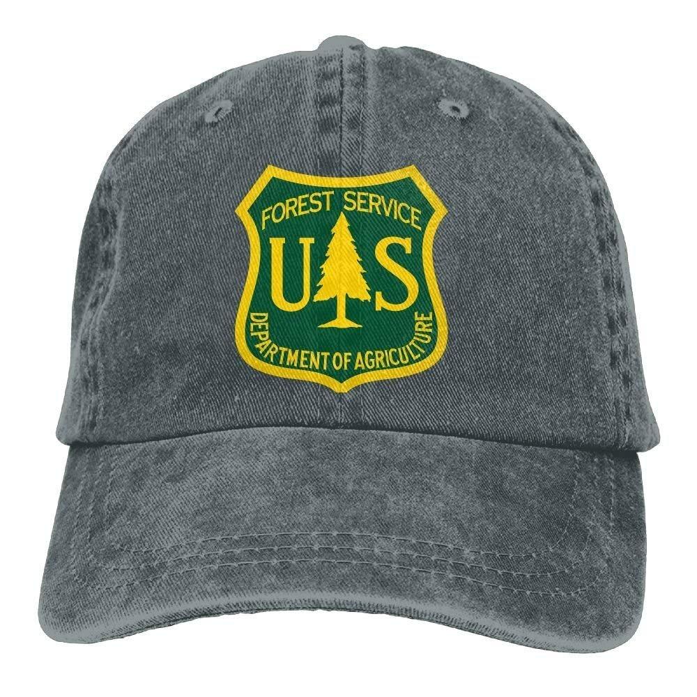 JTRVW Cowboy Hats US Forest Service Flag Plain Adjustable Cowboy Cap Denim Hat for Women and Men