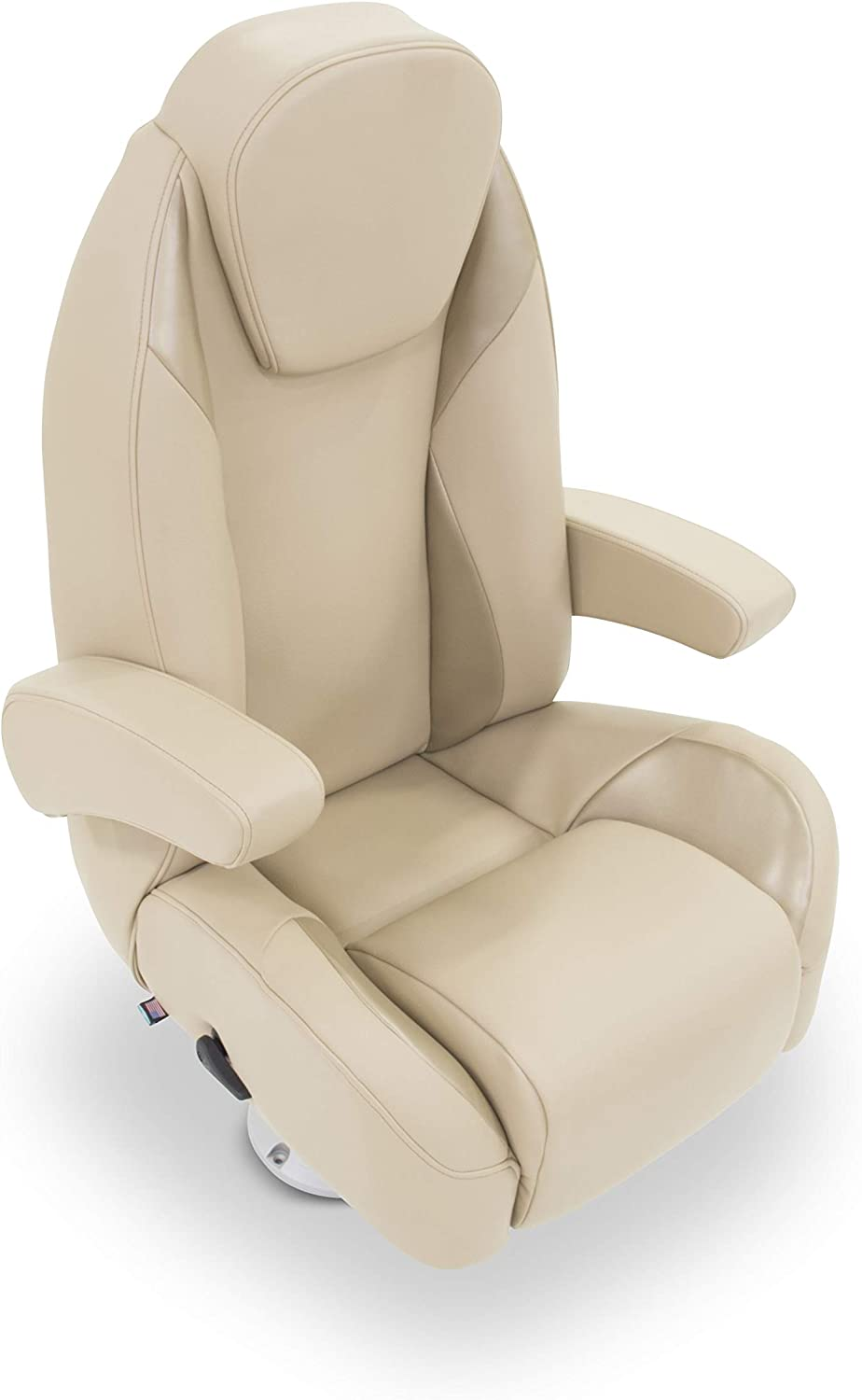 B076PQFMT6 Taylor Made 433097 Platinum Series Furniture Dove Grey High Back Recliner Pontoon Helm Seat with Flip-Up Bolster 710lJGUnq-L.SL1500_