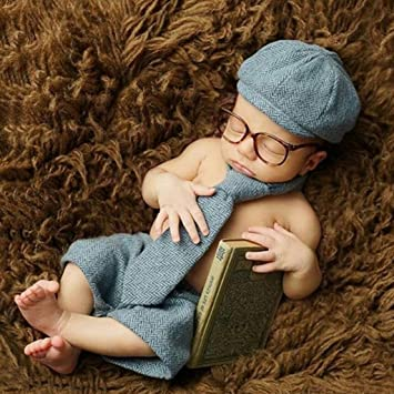 Vivianu - Juego de accesorios para fotografía de recién nacido, para bebé, niño, caballero, disfraz, estudio, disparo