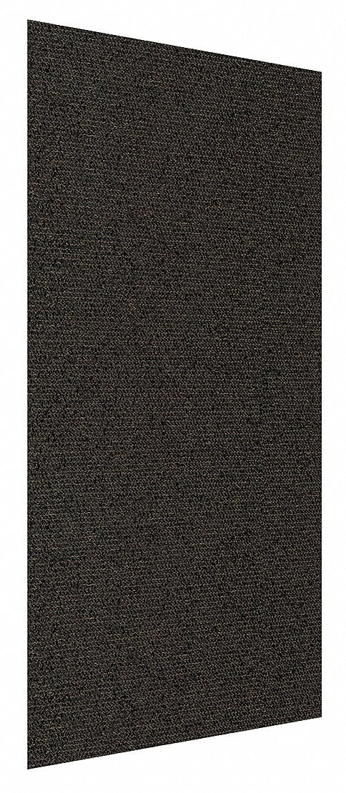 Acoustic Panel, Polyester Fabric Wrapped Fiberglass, 1 EA