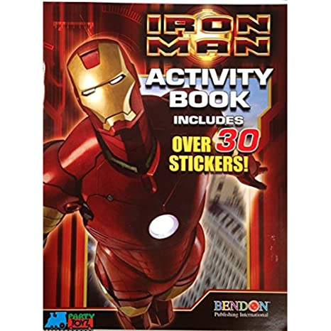 Amazon Com Marvel Iron Man Coloring And Activity Book With 30