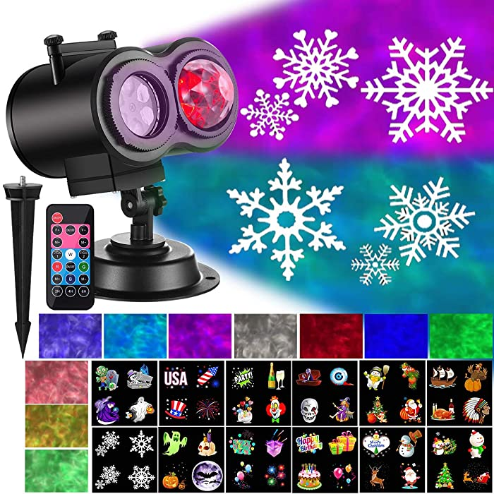 Top 10 Christmas Halloween Home Decoration Projector Lights 12 Pattern