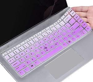 "CaseBuy HP Elitebook Keyboard Cover 14 inch for HP Elitebook 840 G6, 840 G5 14"" / HP Elitebook 745 G6, 745 G5 14"" / HP Zbook 14U G5 G6 14"" Laptop, HP Elitebook Keyboard Protective Skin, Ombre Purple"