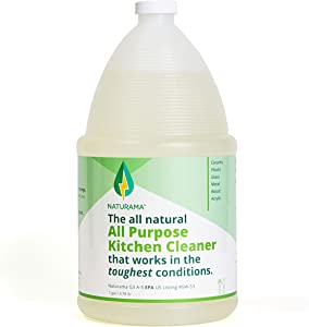 Naturama, All Natural All Purpose Kitchen Cleaner, Eco-Friendly EPA Listed. Made in the U.S. Removes bacteria and up to 99% of germs. Powerful, Odor-free, Non Toxic. (1G)