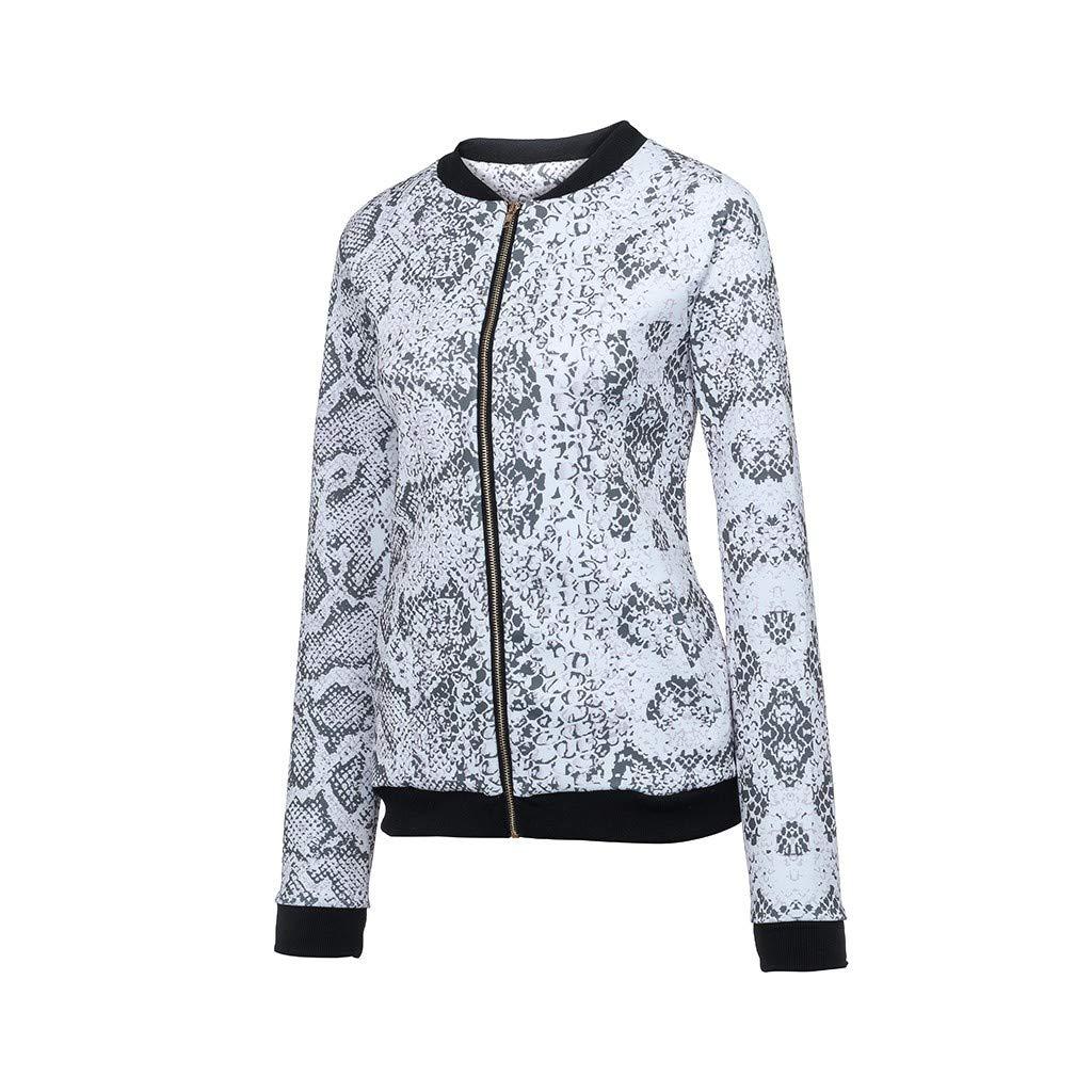 Inverlee Womens Autumn and Winter Long Sleeve Baseball Uniform Jacket Zip Shirt