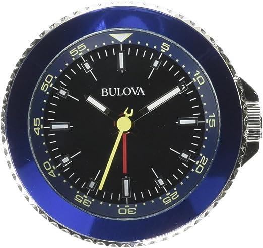 Bulova Classic Travel Clock, Silver