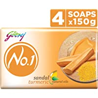 Godrej No.1 Bathing Soap ? Sandal & Turmeric, 150g (Pack of 4)