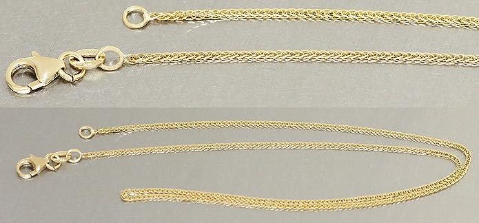 932da6423f0b Hobra-Gold 38 cm suave espumosos de cadena de oro 585 collar de cadena oro  14 Kt allcolour cadena  Amazon.es  Joyería
