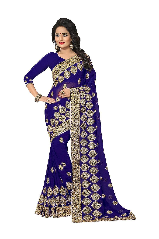 bluee 3 daindiashopUSA Indian Sarees for Women Designer Party Wear Traditional Sari.