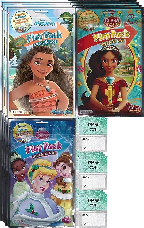 Amazon Com Disney Princess Grab N Go Play Packs 12 Pack Party