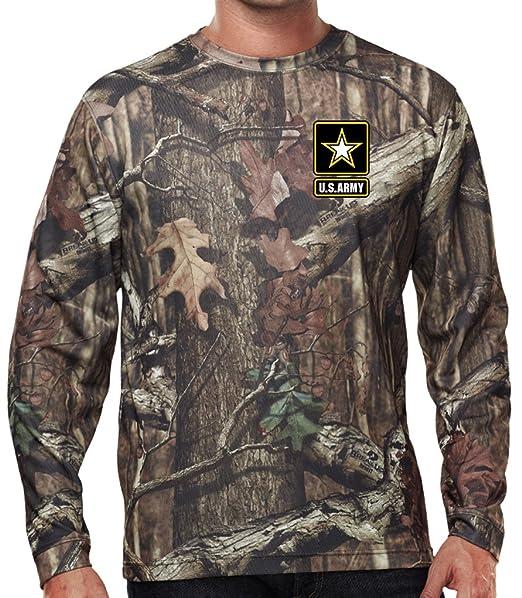 Amazon.com: US Army de manga larga camuflaje para camisa de ...