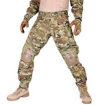 idogear G3 combate pantalones con rodilleras Multicam negro Airsoft caza ejército Militar camuflaje ropa, W38