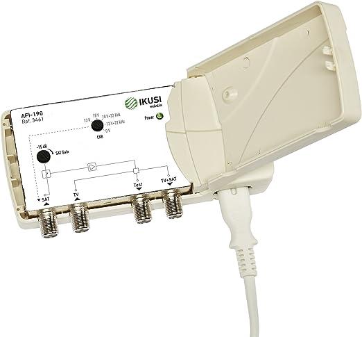 Ikusi Amplificador de Línea Satélite 34dB con Mezcla TDT