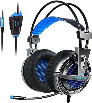 KINGTOP K11 Auriculares Gaming con Micrófono para Playstation 4 ...