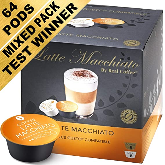 Mixed Taster Pack 64 Dolce Gusto Compatible Pods Pack Of 4 With 64 Capsules