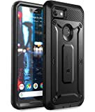Google Pixel 3 XL Case, SUPCASE Full-Body Rugged Holster Case with Built-in Screen Protector for Google Pixel 3 XL 2018 Release, Unicorn Beetle Pro Series - Retail Package (Black)