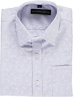 Kids World Little Boys' Luxe Paisley Dress Shirt 7