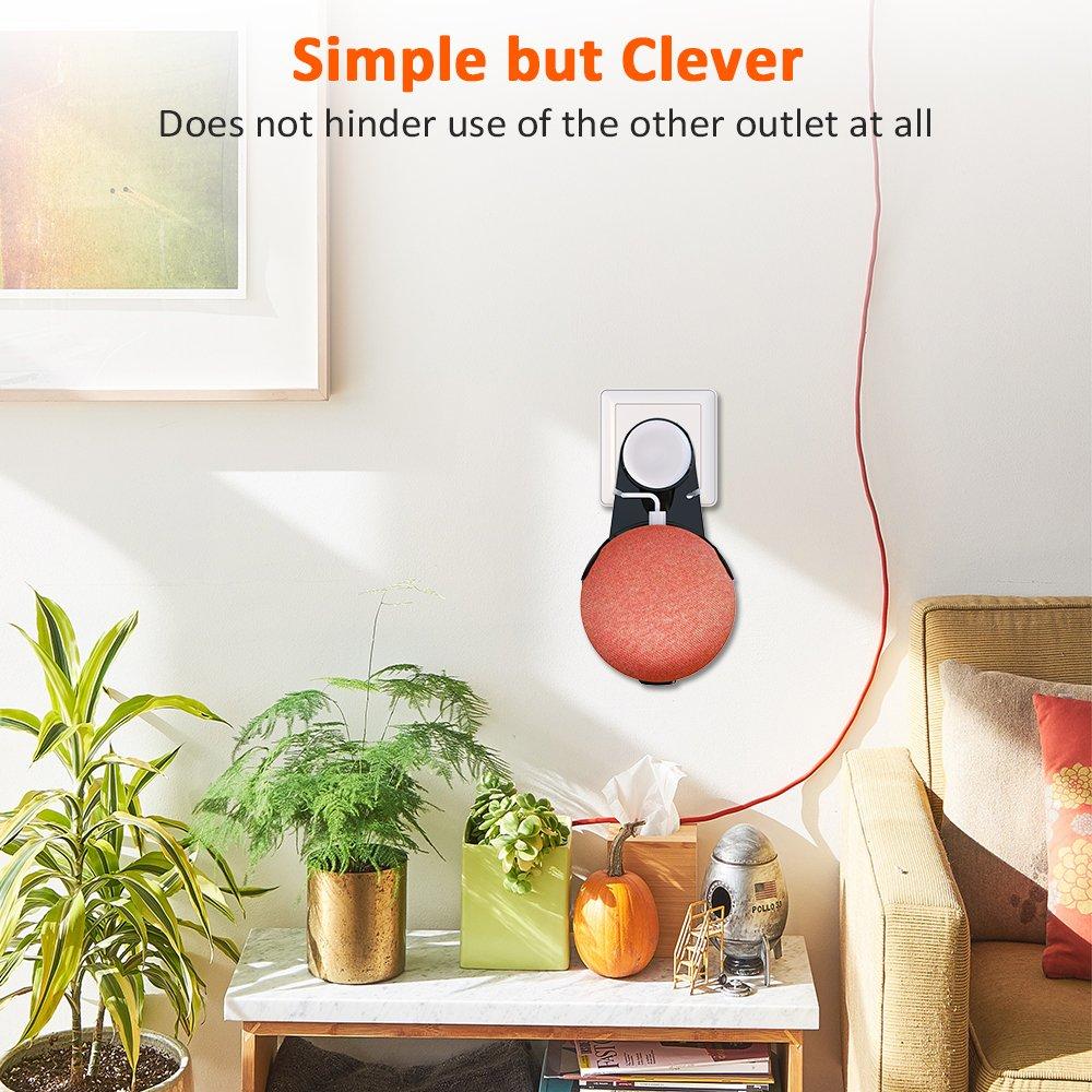 Bovon Soporte de Pared Outlet para Google Home Mini, una solución de Ahorro de Espacio para Sus Altavoces Smart Home, Accesorios para el hogar Inteligente ...