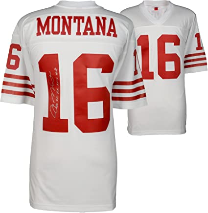 new style 42bcb 2da6e Joe Montana San Francisco 49ers Autographed Mitchell & Ness ...