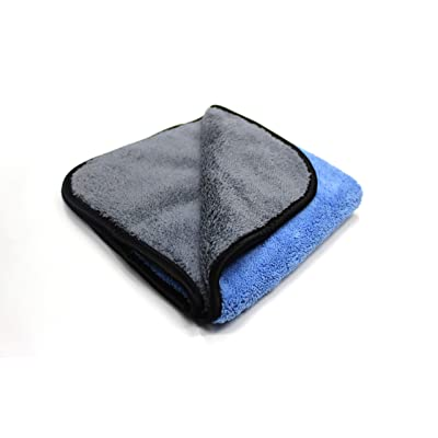 Maxshine 600GSM Ultimate Crazy 2C Microfiber Towel Series for Car Detailing, Blue & Grey, 40x60cm: Automotive