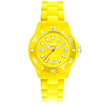 Ice-Watch Kids Solid Yellow Plastic Watch