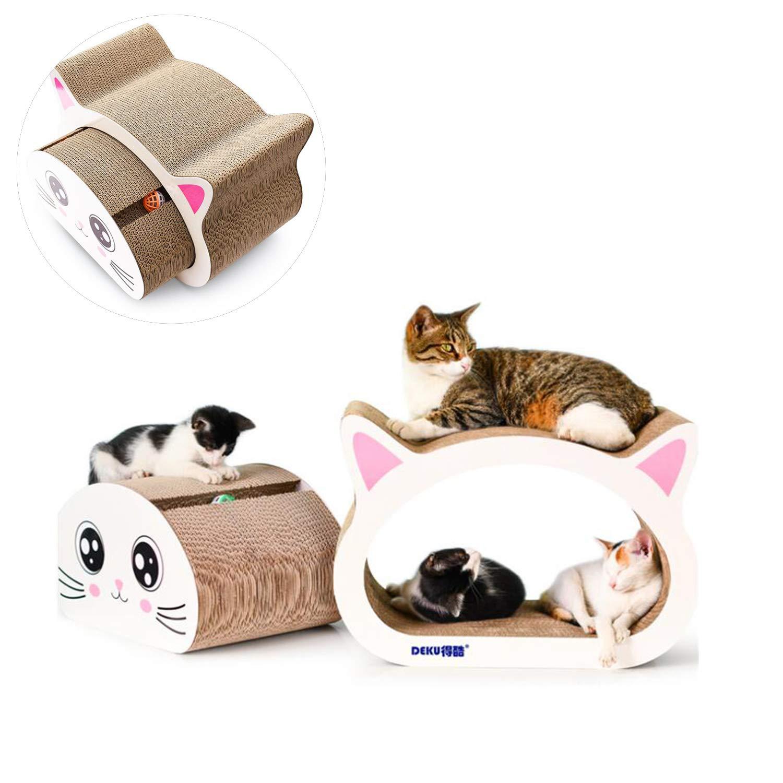 Haol Gatto Graffio di Carta Ondulata Gatto Grande Testa Afferrando La Piastra Rettifica Artiglio Giocattolo Combo Uno