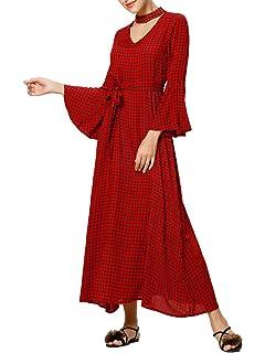 fcaeb29f1fa Baya Femmes Halter Neck Floral Summer Sundress Casual Robe Maxi Décontracté Robes  Longues
