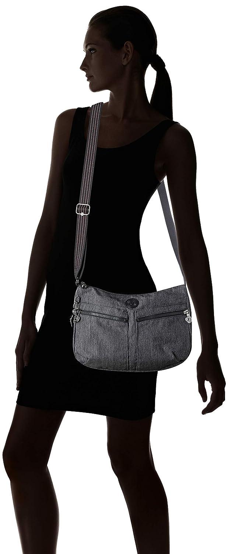 Kipling kvinnors Icellah handväskor Blue (Active Denim)