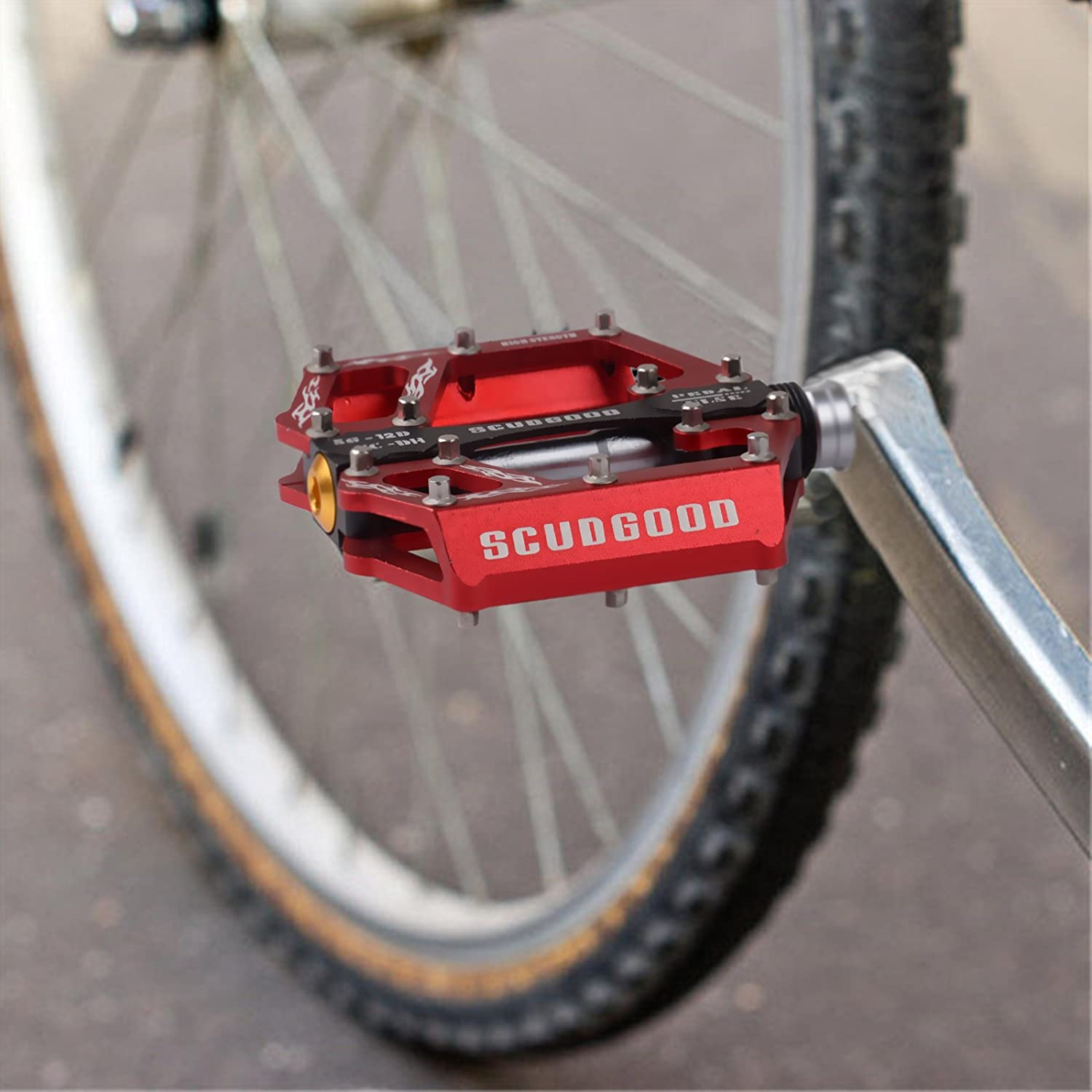 SportingBodybuilding Bike Pedals 9 16 Metal for BMX Mountain Bicycle Platforms Pedals