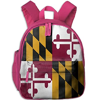 KEPan Outdoor Flag Of Maryland Kids Snack Backpack School Book Bags Gift For Toodle Teen Boys Girls