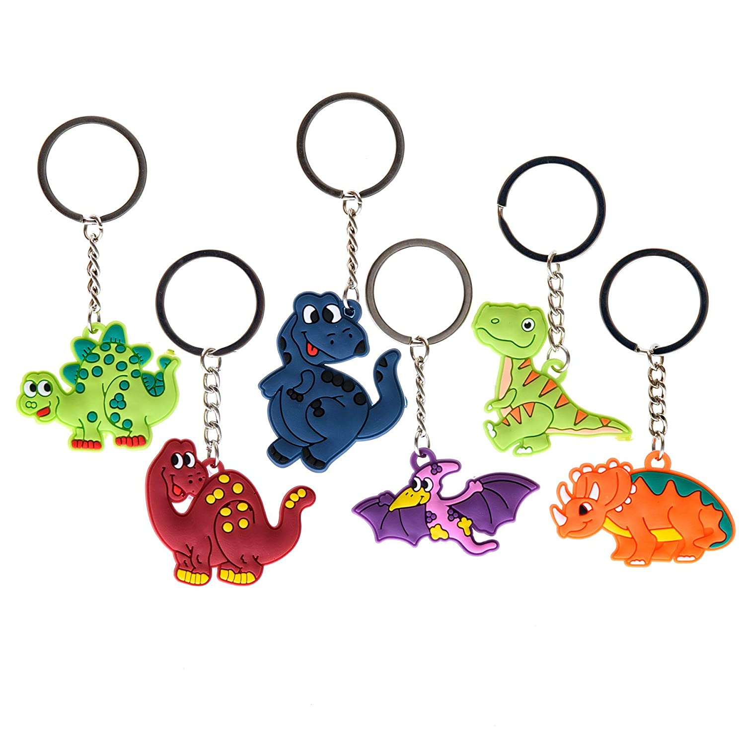 Keychains 60 Pieces Pens Glow In The Dark Dinos Dino Party Pack and Tattoo Sheets Dreams And Whispers Erasers