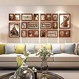 Artzfolio Wall Photo Frame Dark Brown 5X7-14Pc;6X10-4Pc;8X10-2Pc;Set of 20 Pcs