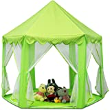 Shayson Outdoor Indoor Princess Castle Play Tents, Large Playhouse Kids For Festival Fairy Princess Castle Tent, Newest Design, Extra Large Room (Green Tent)