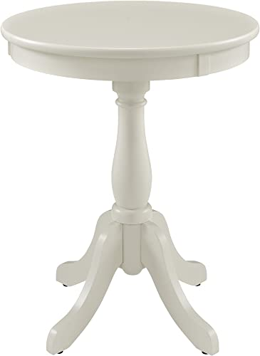 Powell Furniture Powell Round Accent, White Table