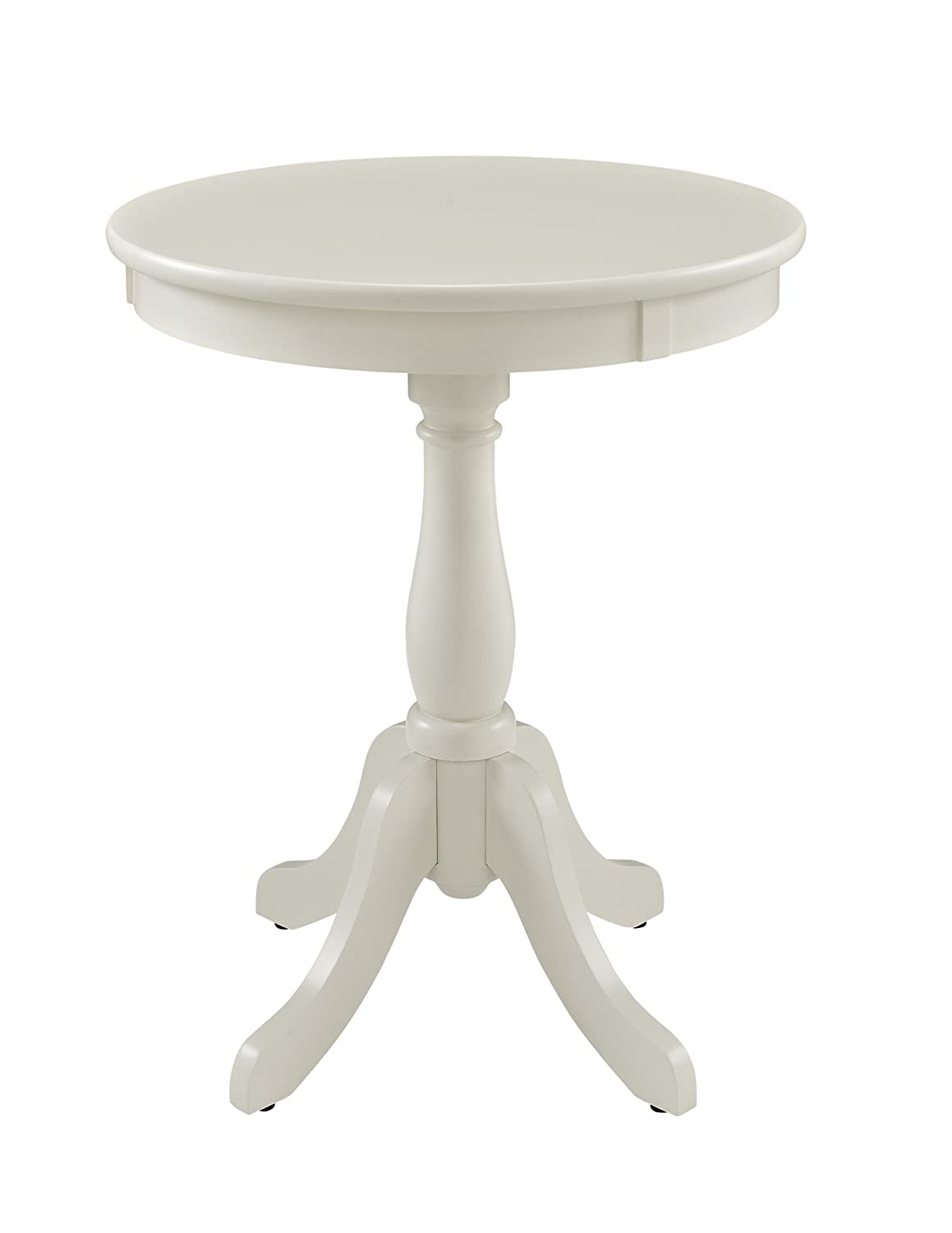 White 18 L x 18 W x 22 H Powell's Furniture 929-711 Powell Round Accent, White Table,