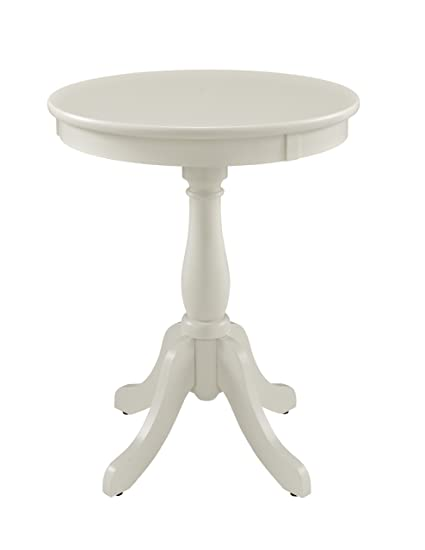 Beautiful Powell Furniture Round Accent Table, White
