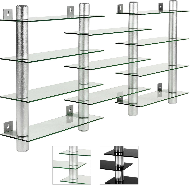 Exquisit Regal Glas Referenz Von Stilista Cd Dvd Wandregal, Klarglas, Aluminium Tubes,