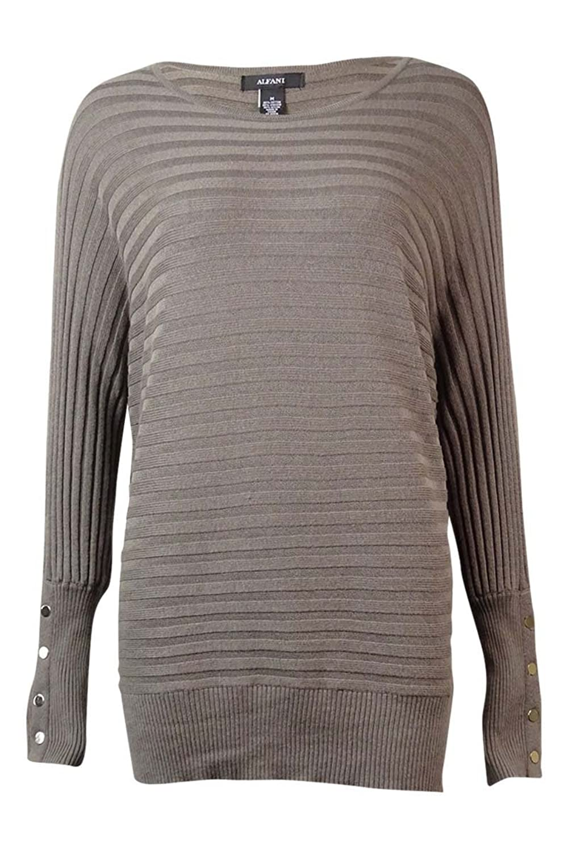 Alfani Womens Bateau Neck Batwing Pullover Sweater