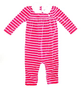 e9a6628306 Ralph Lauren New Genuine Baby Girls Pink Velvet Babygrow Playsuit - 70002  (9 Months)  Amazon.co.uk  Clothing