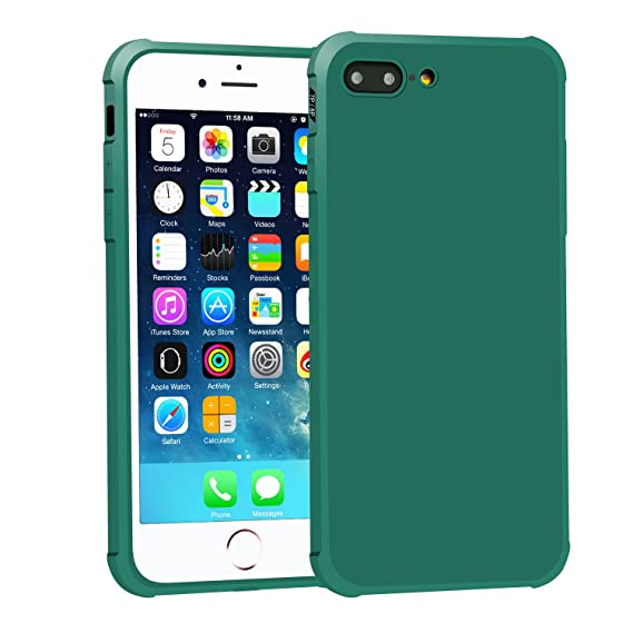 brand new 64cce cc71a VEKLR iPhone 7Plus / 8Plus Case, Matte Surface Soft Slim Fit  Cover,Protective Phone Case with Corner Air Bumpers Compatible iPhone 7  Plus/iPhone 8 ...