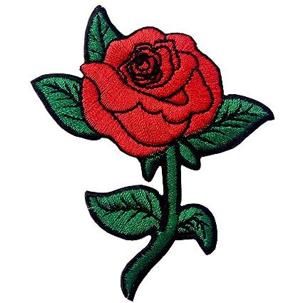 6156c1bf81c91 Red Rose Distintivo Ricamato Applicazioni Il Ferro Su Cucia Sulla ... toppa rosa  vans