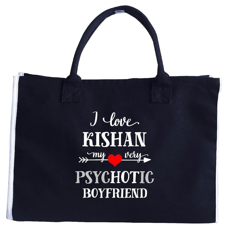 I Love Kishan My Very Psychotic Boyfriend. Gift For Her - Fashion Tote Bag