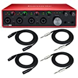 Focusrite 18i8 3rd Gen 18x8 USB Audio Interface Scarlett usb with 2 XLR Cables and 2 1/4-Inch TRS Cables Bundle (5 Items)