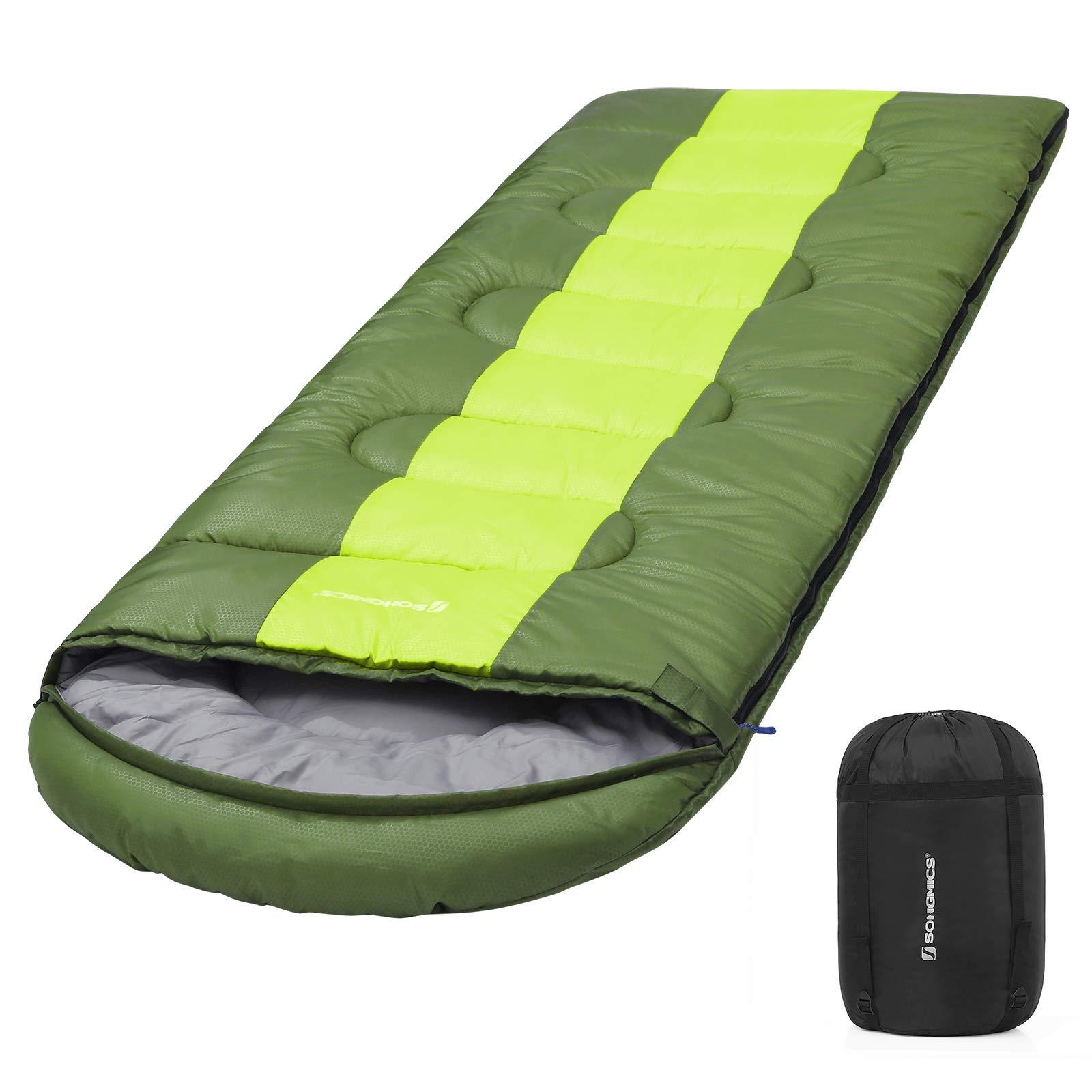 SONGMICS Saco de Dormir Momia para Adultos Relleno de Fibra sintética para Acampada Senderismo con Bolsa de compresión product image