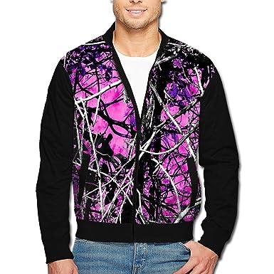 94e282b526943 TFioe Men's Muddy Girl Camo Pink 3D Print Full Zip Zipper Sweatshirt Tops  Jacket S