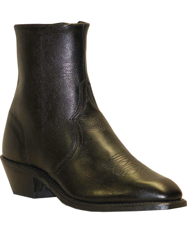 Abilene Men's Boot Zipper Short Dress Black 8 EE US
