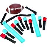 Mini Flag Football Set – 10 Adjustable Flag Belts – Fun Outdoor Game– Complete Set For Kids Boys Girls