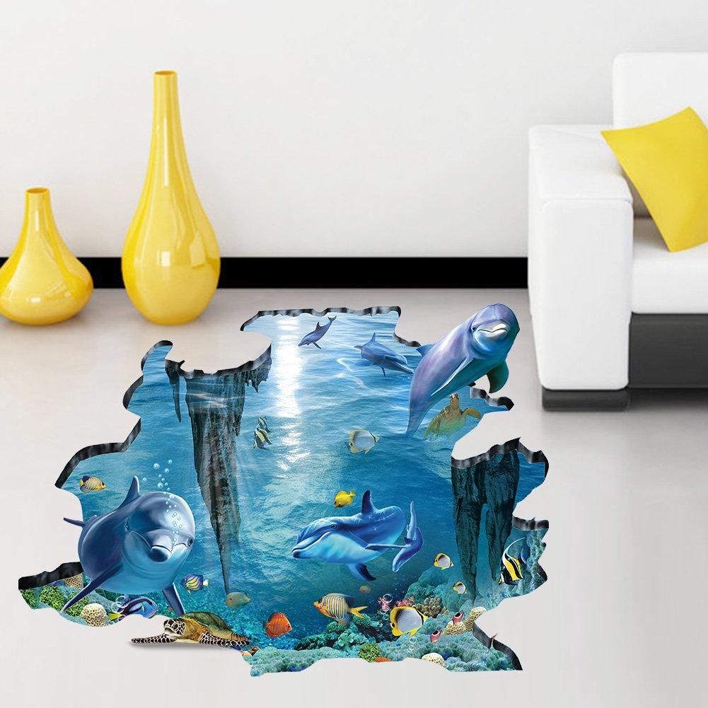Nette 3D Dolphin Delphin Kinderzimmer Babyzimmer Wandtattoo ...